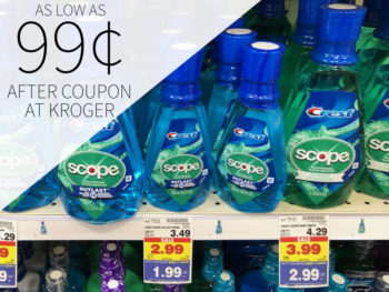 Crest Scope Mouthwash As Low As 99¢ At Kroger 1