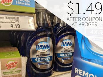 Dawn Dishwashing Liquid Just $1.49 At Kroger