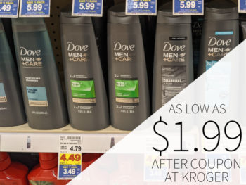 Dove Men+Care Hair Care Only $1.99 At Kroger