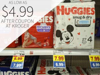 Huggies Diapers As Low As $4.99 At Kroger