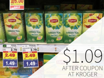 Lipton Green Tea Bags Just $1.49 At Kroger 1