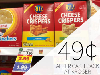 Ritz Cheese Crispers Or Crisp & Thins Just 49¢ At Kroger