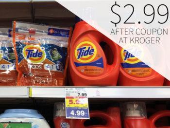 Tide Laundry Detergent Just $2.99 At Kroger 3