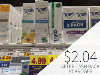 Tom's Of Maine Toothpaste Just $2.44 Per Tube At Kroger