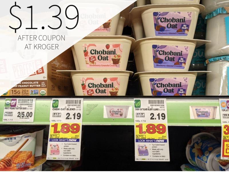 Chobani Oat Blend Non-Dairy Yogurt Only $1.39 At Kroger
