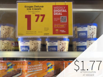 Kroger Deluxe Ice Cream Only .77 At Kroger
