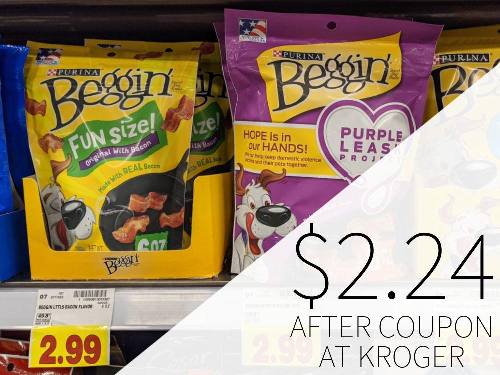 Purina Beggin Dog Treats Just $2.24 Per Bag At Kroger