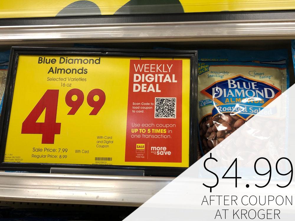 Blue Diamond Almonds As Low As $4.99 At Kroger 1
