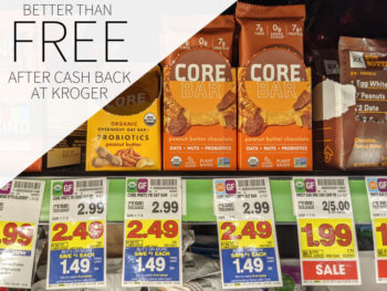 CORE Foods Overnight Oat Bars Better Than FREE At Kroger
