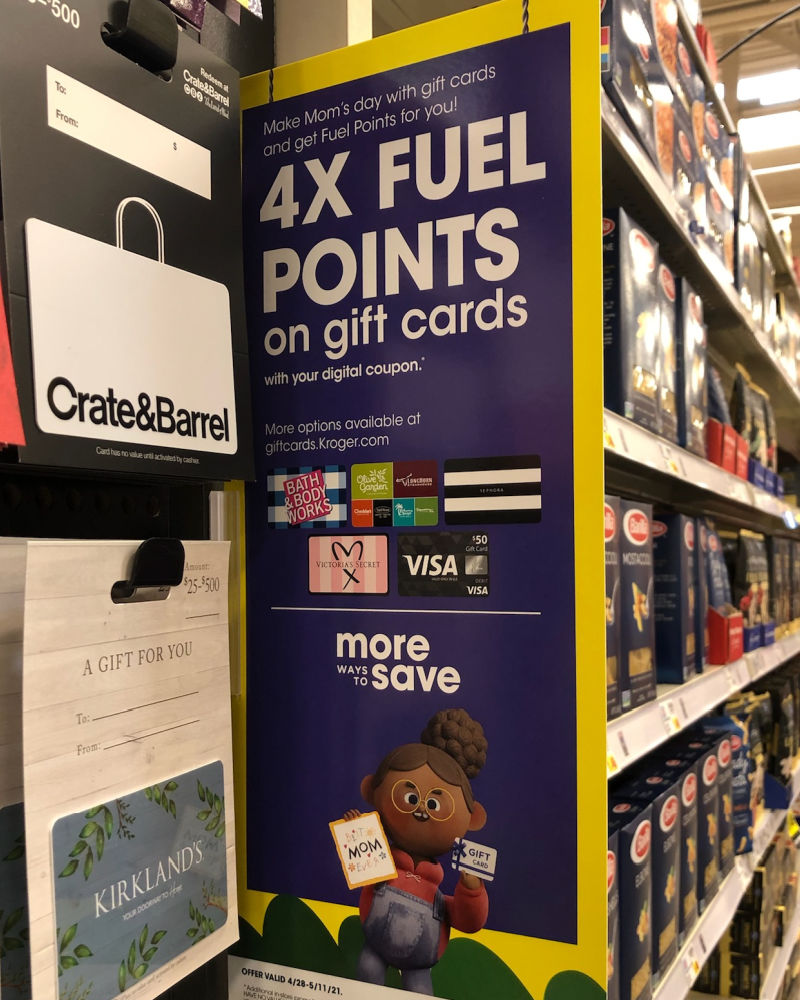 4x Kroger Fuel Points When You Buy Gift Cards 6