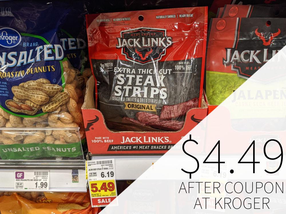 Jack Links Steak Strips Just $4.49 At Kroger