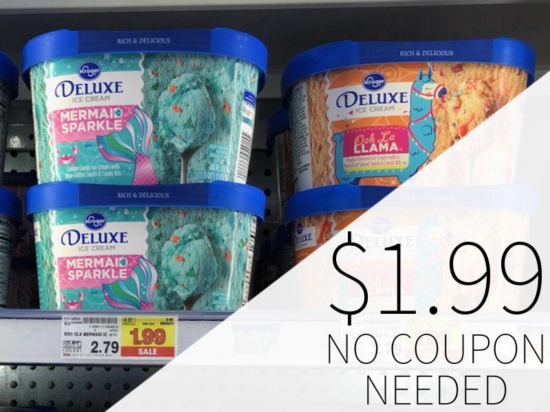 Kroger Deluxe Ice Cream Just $1.99 At Kroger