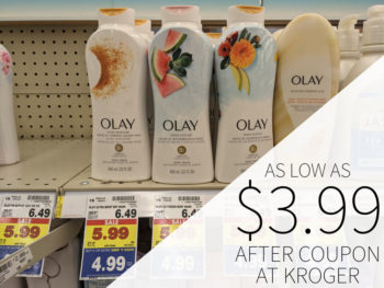 Olay Body Wash Just .24 Per Bottles At Kroger