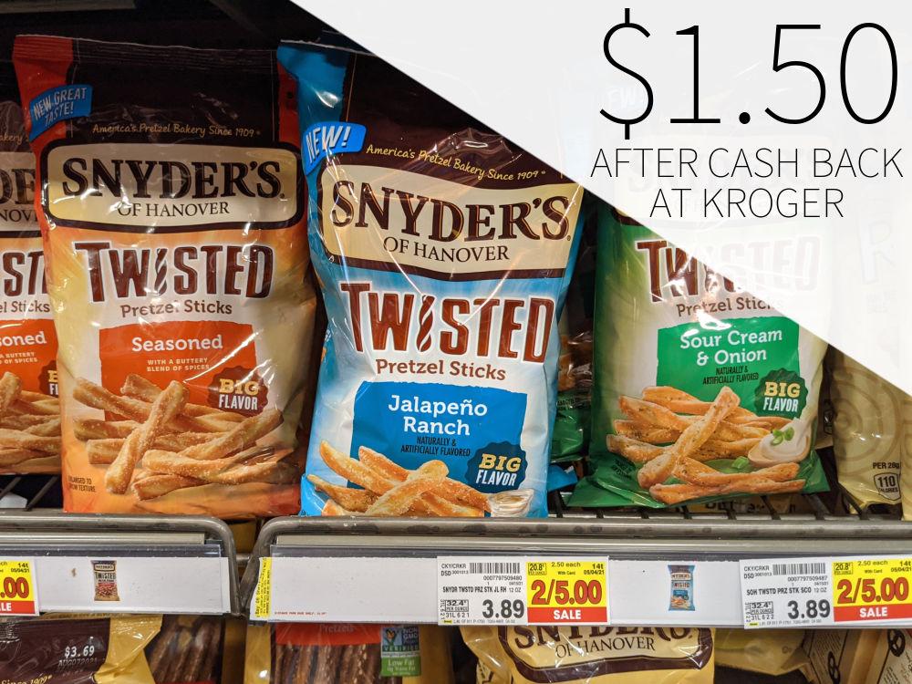 Snyder's Of Hanover Twisted Pretzel Sticks Just $1.50 At Kroger