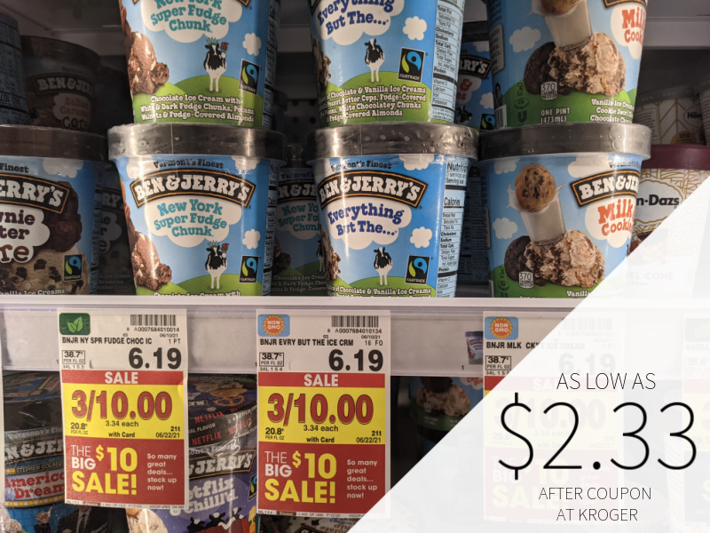 Ben & Jerry's Ice Cream As Low As $2.33 At Kroger