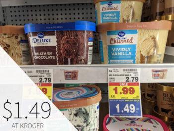 Kroger Deluxe Ice Cream Only .49