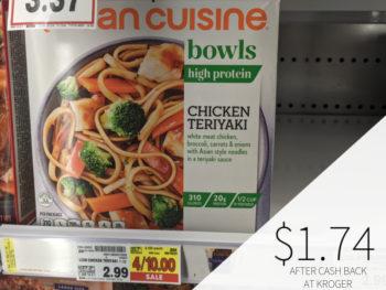 Lean Cuisine Bowls Only .74 At Kroger