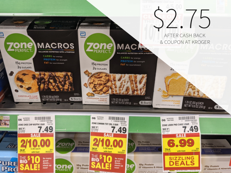 ZonePerfect Macros Bar Multi-Pack Only $2.75 At Kroger