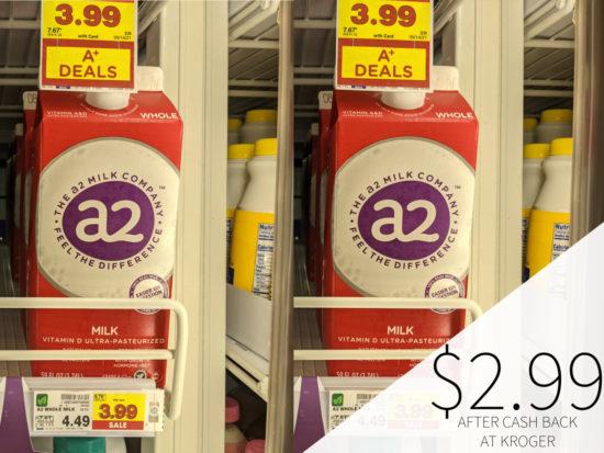 A2 Milk Only .99 At Kroger