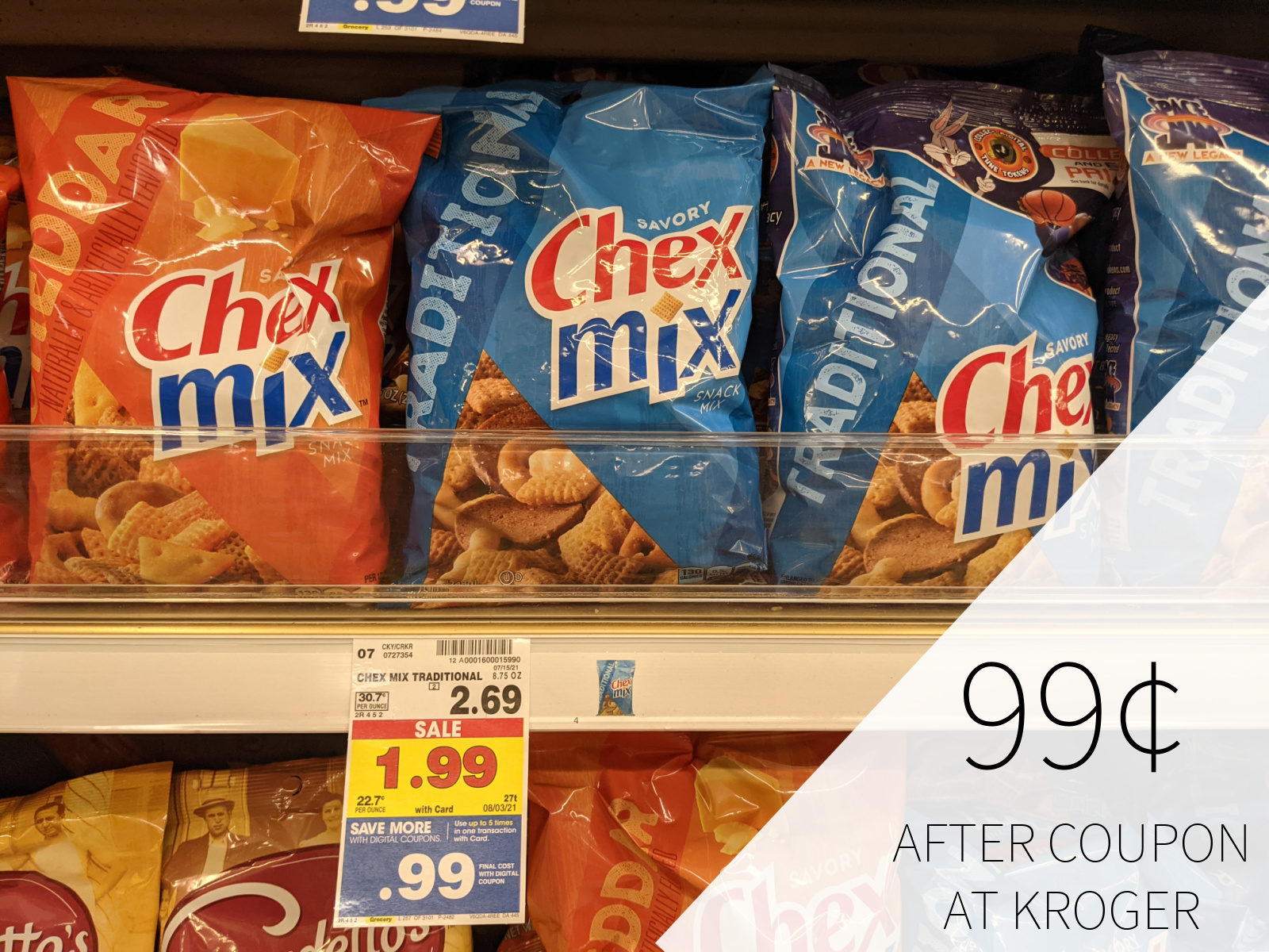 Chex Mix Just 99¢ Per Bag At Kroger