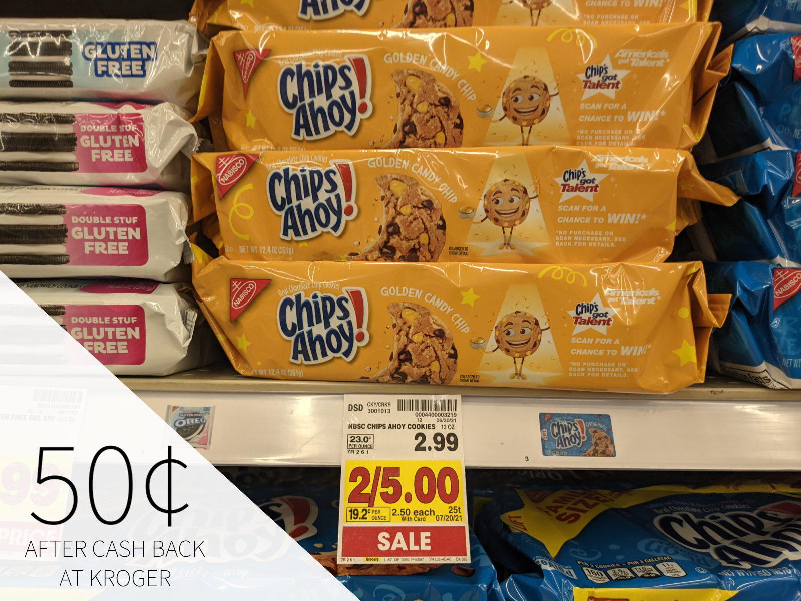 Chips Ahoy Cookies Only 50¢ At Kroger