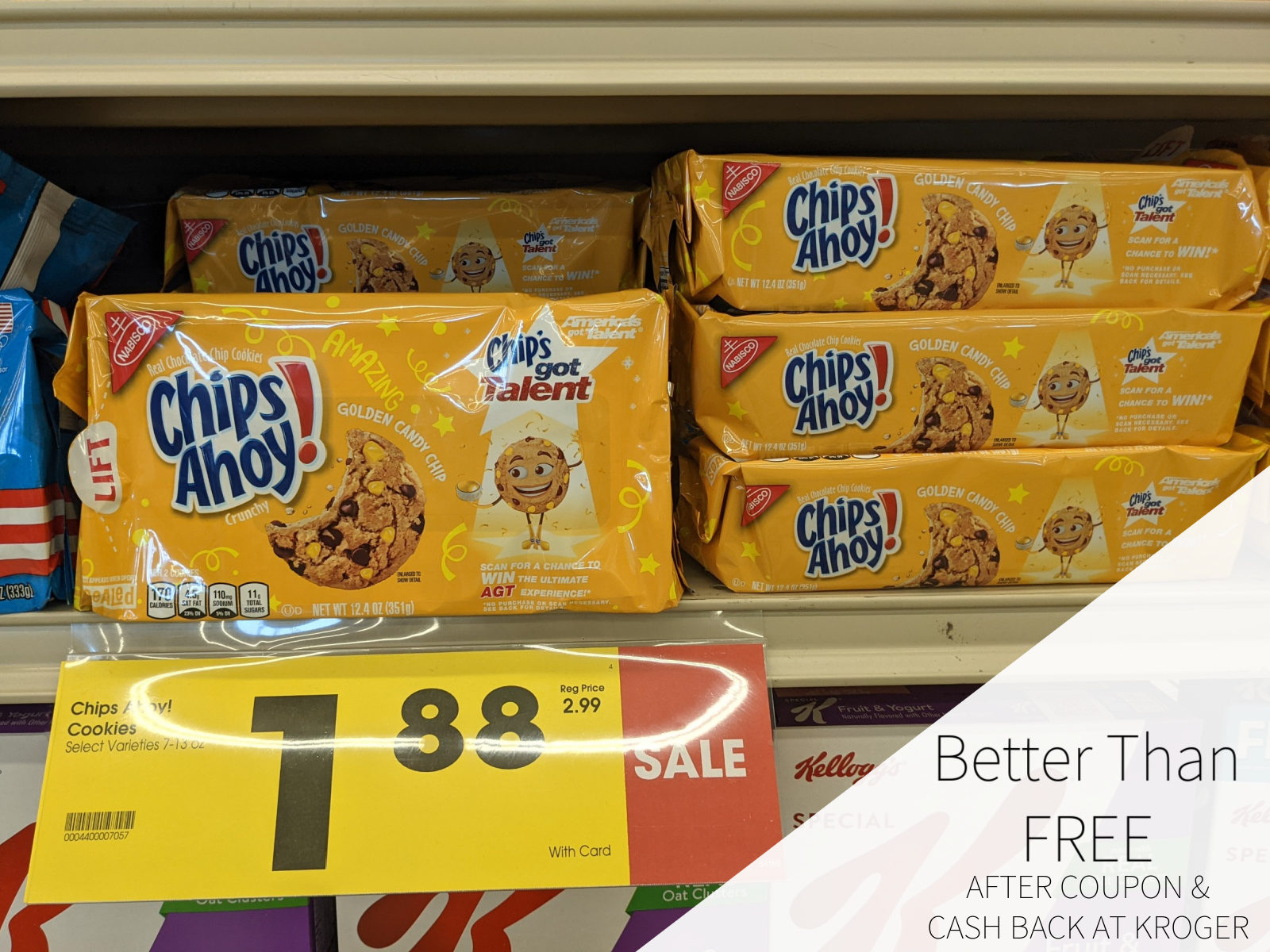 Chips Ahoy! Golden Candy Chip Cookies Only 50¢ At Kroger 1