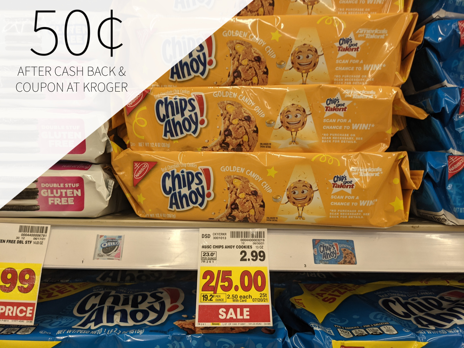Chips Ahoy! Golden Candy Chip Cookies Only 50¢ At Kroger