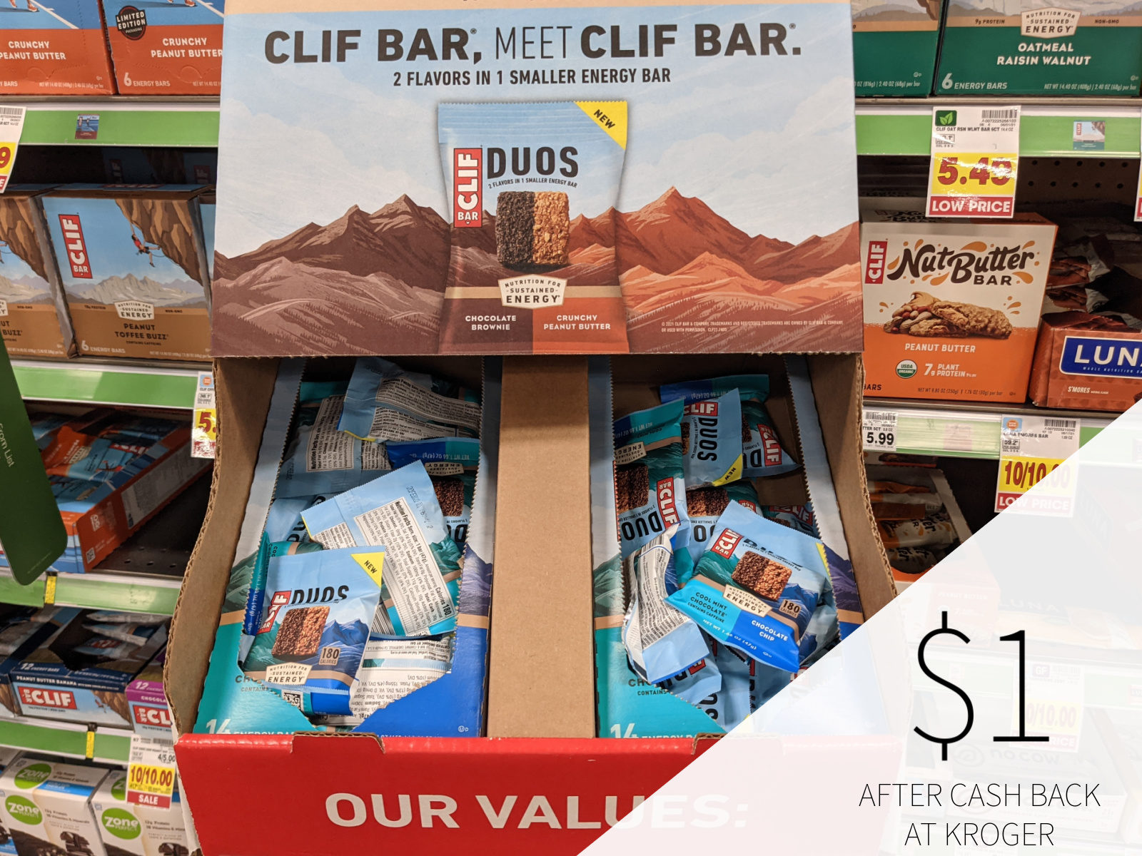 Clif Duo Bars Only  At Kroger