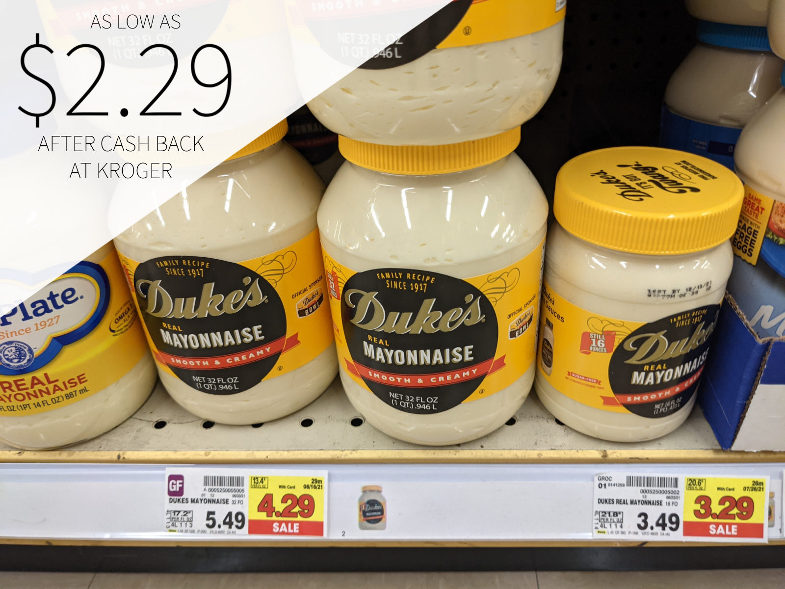 Duke's Mayonnaise As Low As .29 At Kroger