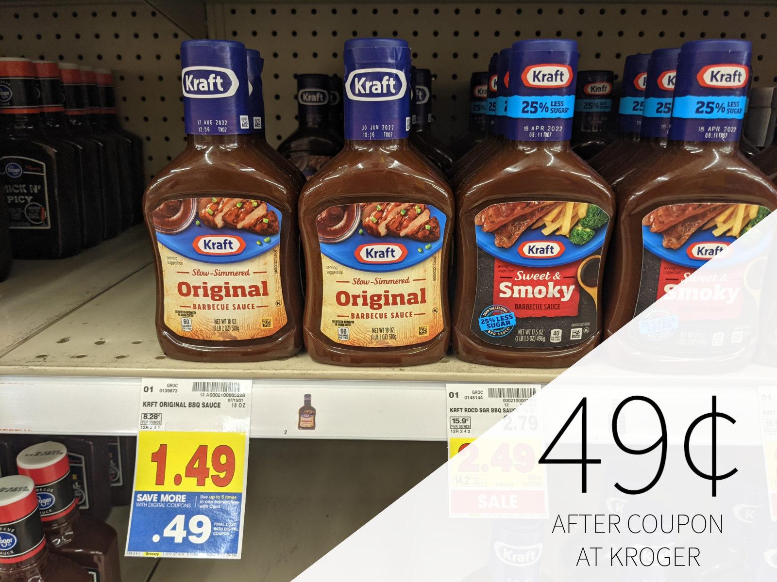 Kraft Barbecue Sauce Just 49¢ At Kroger