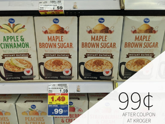 Kroger Instant Oatmeal Packets