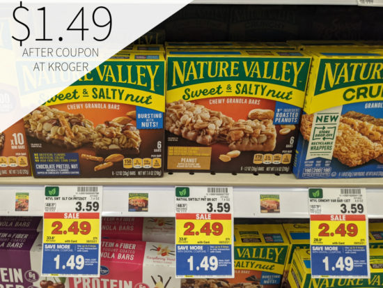 Nature Valley Granola Bars Only .49 At Kroger