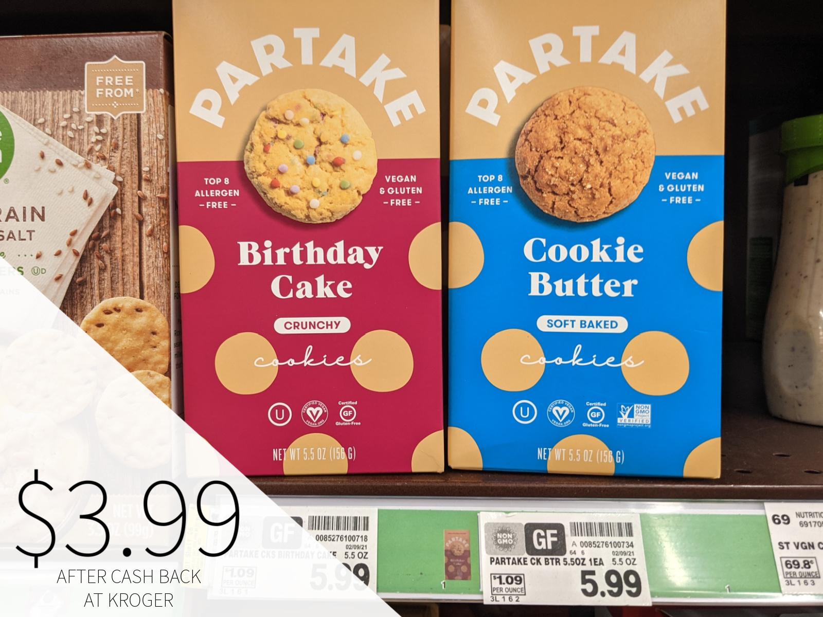 Partake Cookies Only $3.99 At Kroger