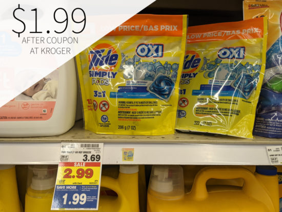Tide Simply Pods Only .99 At Kroger