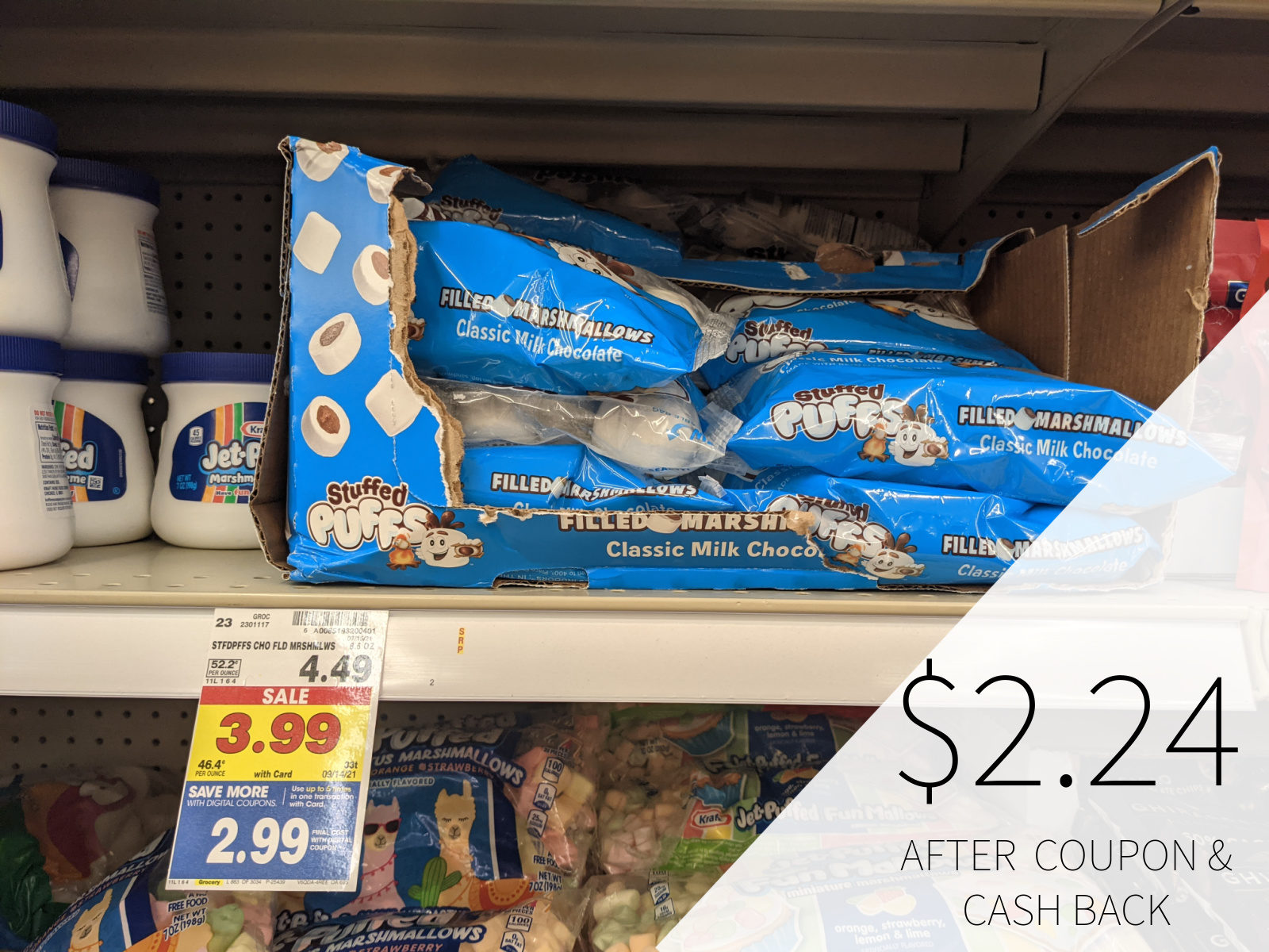 Stuffed Puffs Filled Marshmallows Only .49 At Kroger 1