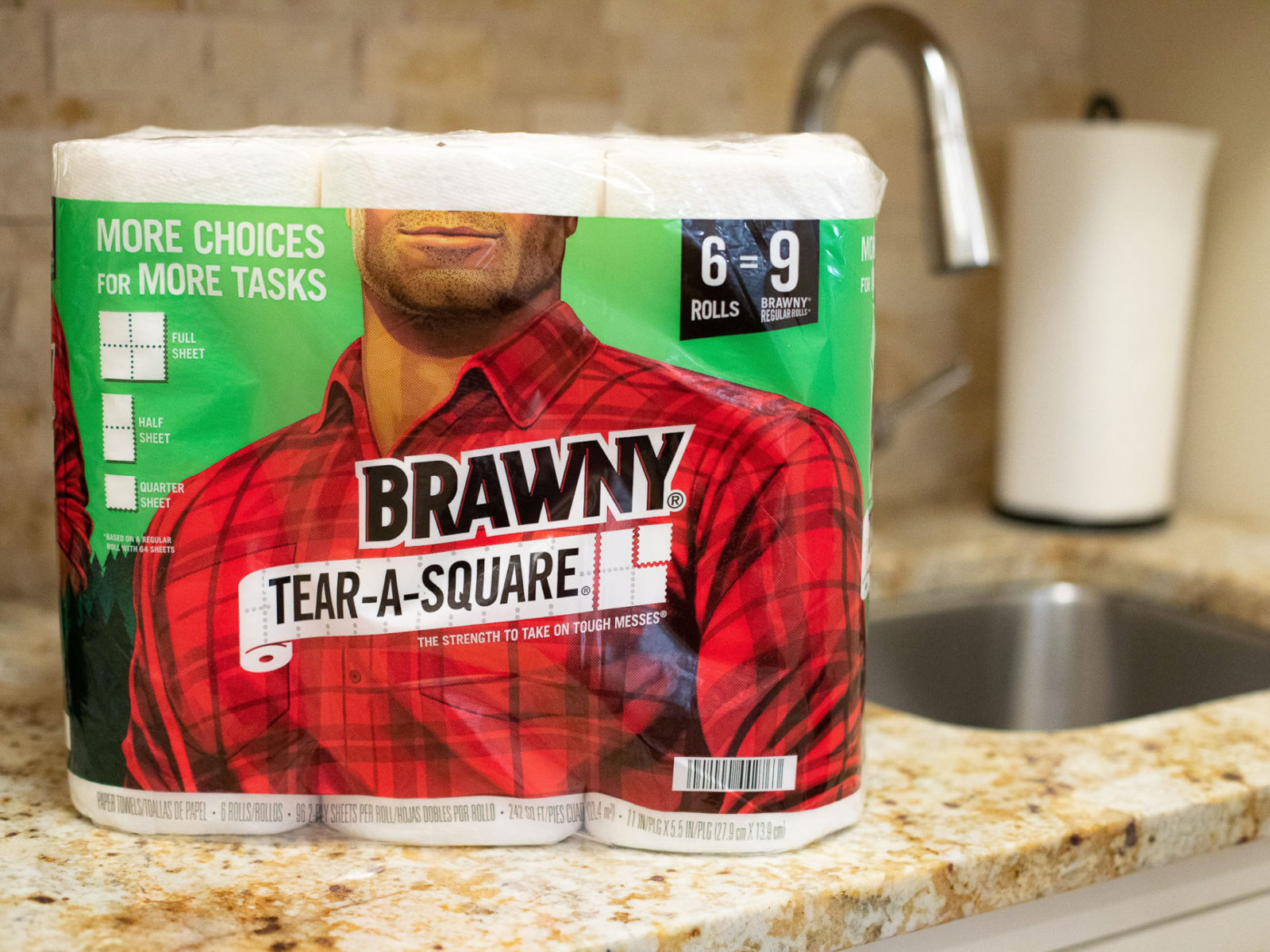 Brawny Tear-A-Square Paper Towels