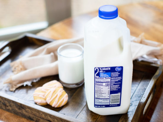 Get Up To FIVE Half Gallons Of Kroger Milk For 88¢ Each