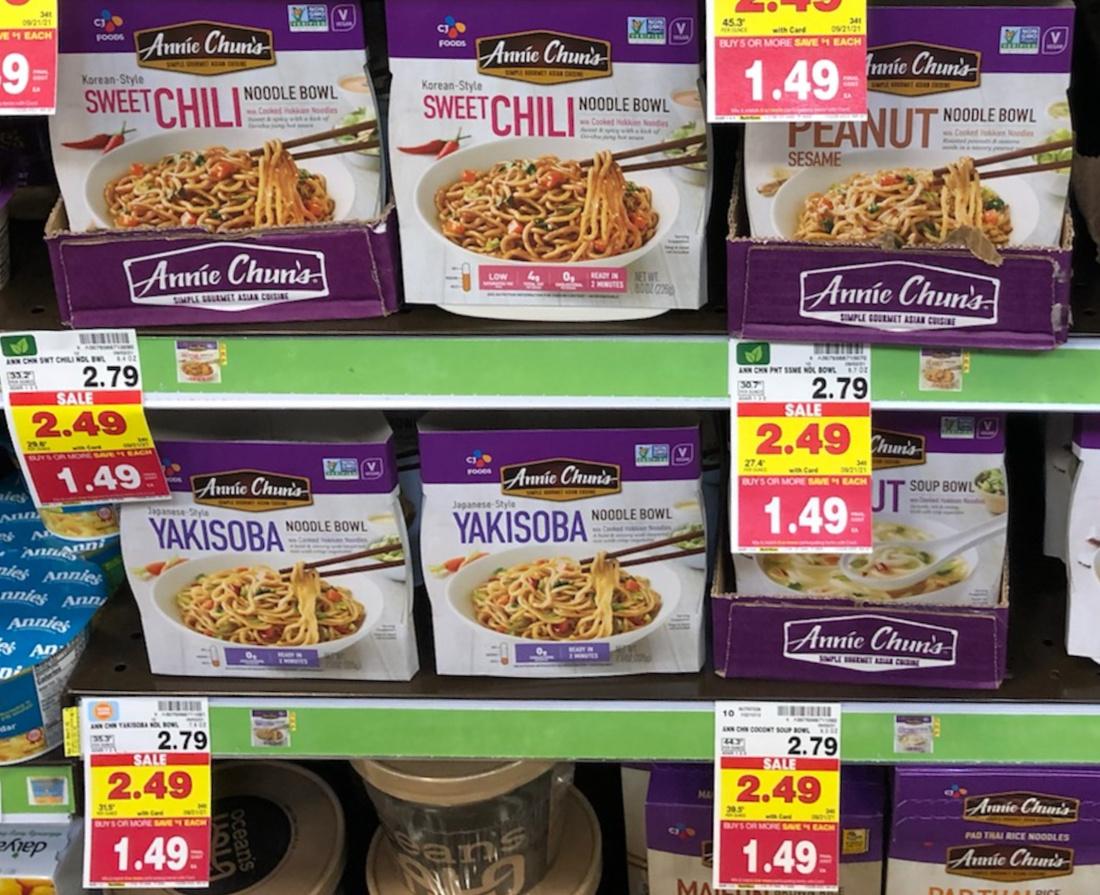 Annie Chun's Noodle Bowl As Low As $ At Kroger
