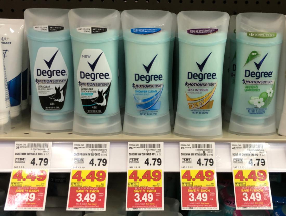 Degree Antiperspirant Deodorant As Low As $ At Kroger
