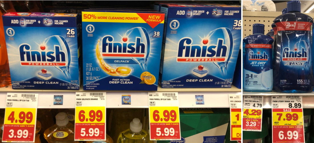 Finish Dishwashing Detergent And Rinse Aid As Low As $