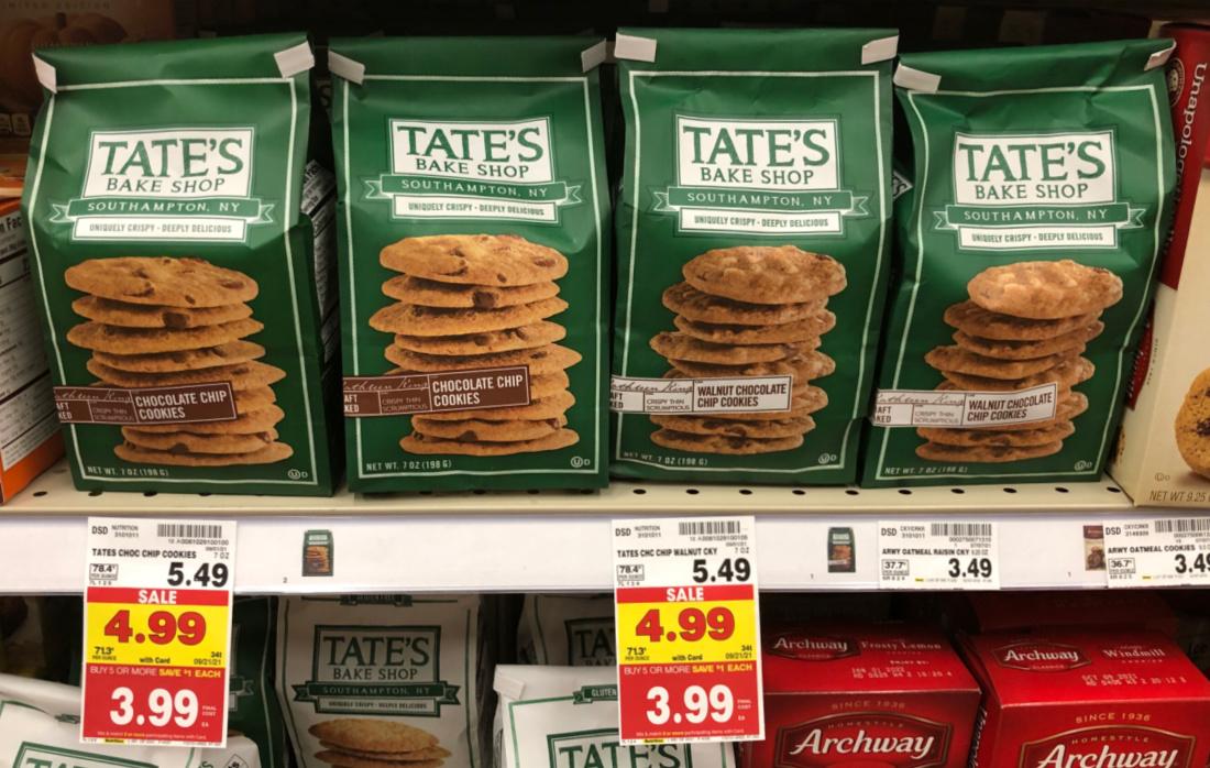 Tate's Bake Shop Cookies - As Low As $ At Kroger