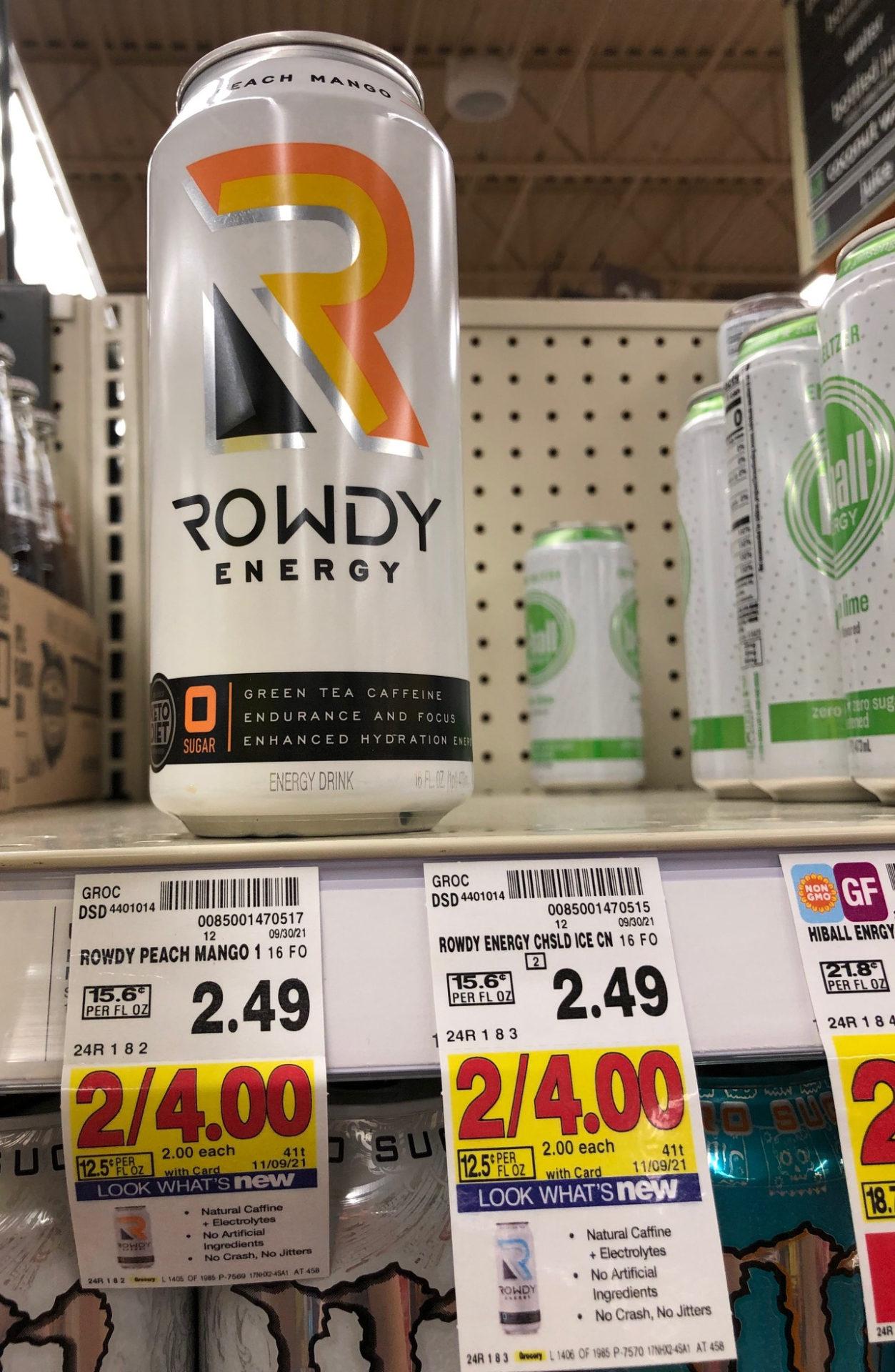 FREE Rowdy Energy Drink At Kroger