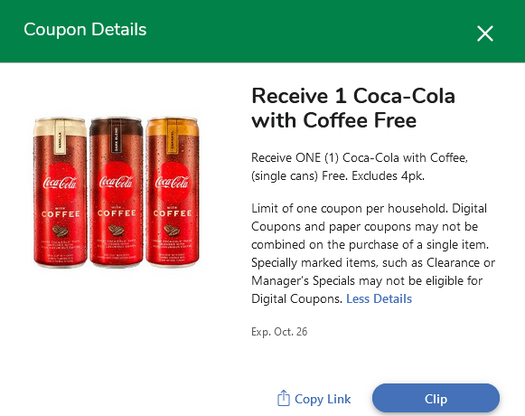 Free Coca-Cola with Coffee At Kroger 2