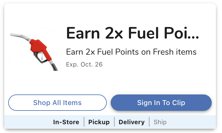 Kroger Fuel Event - 2x Kroger Fuel Points On Fresh Items