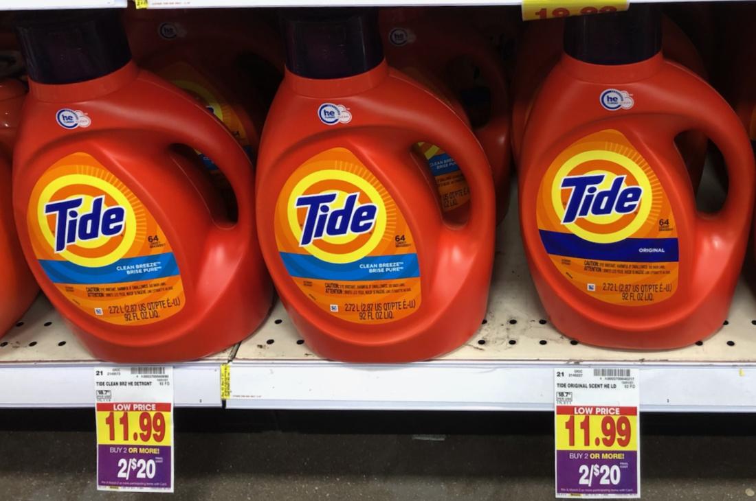 Get Big Bottle Of Tide Liquid For Just $7 At Kroger